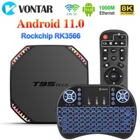 Boîtier Smart TV T95 Plus, Android 11, Rockchip RK3566, 8 go RAM, 64 go, 4K, Wifi 1000M, 32 go, lecteur multimédia, décodeur