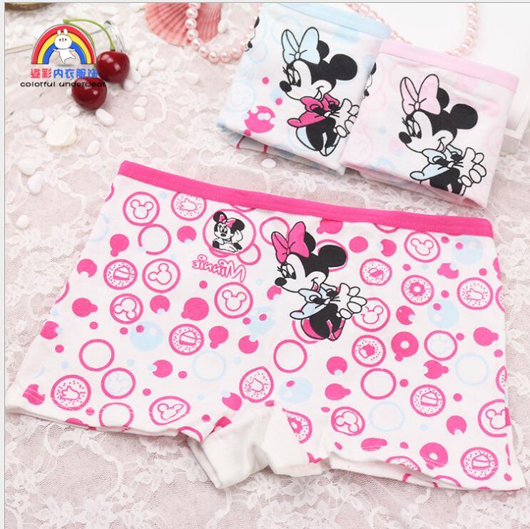 4 sztuk dziewczyny Cartoon majtki kobiece dziecko bielizna z modalu Minnie Mouse drukowanie majtki dzieci wycięte majteczki kalesony rozmiar 2T-10T
