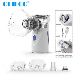 Image 1 - Mini Handheld Draagbare Mesh Vernevelaar Stille Ultrasone Medische Stomen Inhalator Volwassen Kids Oplaadbare Luchtbevochtiger Kind Volwassen