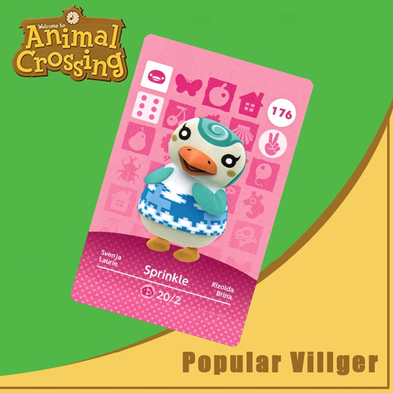 176 Animal Crossing Amiibo Card Sprinkle Amiibo Card Animal Crossing Series 2 Sprinkle Nfc Card Work For Ns Games Dropshipping