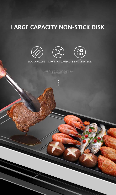 Double layer Electric Barbecue Stove Korean Household Non
