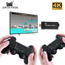 DATA FROG TV Video Game Console With 2.4G Double Wireless Controller Built in 3000/10000 Games Support For PS1/GBA Game Console