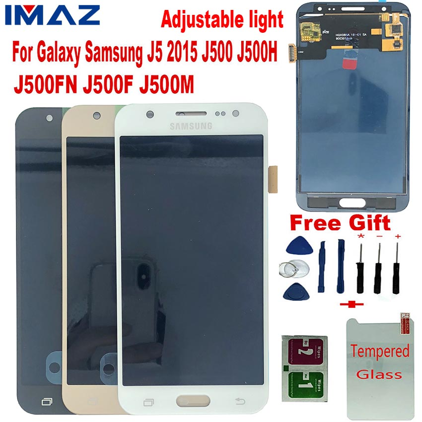 IMAZ Adjust Light <font><b>LCD</b></font> For Samsung Galaxy J5 2015 J500 J500H J500FN <font><b>J500F</b></font> <font><b>LCD</b></font> Display Touch Screen Digitizer Assembly For J5 <font><b>LCD</b></font> image