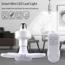 E27 LED Bulb Fan Blade Timing Lamp AC85-265V 28W Foldable Led Light Bulb Lampada For Home Ceiling Light With Remote Controller cheap MeeToo CN(Origin) Cool White(5500-7000K) Fan Blade E27 LED Bulb 2835 living room 1000 - 1999 Lumens Irregular 50000 9 2cm