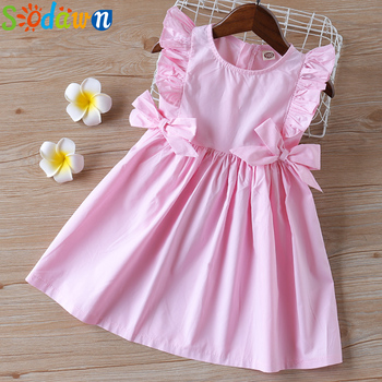 Sodawn 2020 Summer Baby Girls Dress Children Clothing Ruffle Sleeveless Princess Dress Bow Sweet Kids Girl Clothes baby girls bow dress summer clothes for kids girls dress girl princess party dress 2017 new arrival children clothing