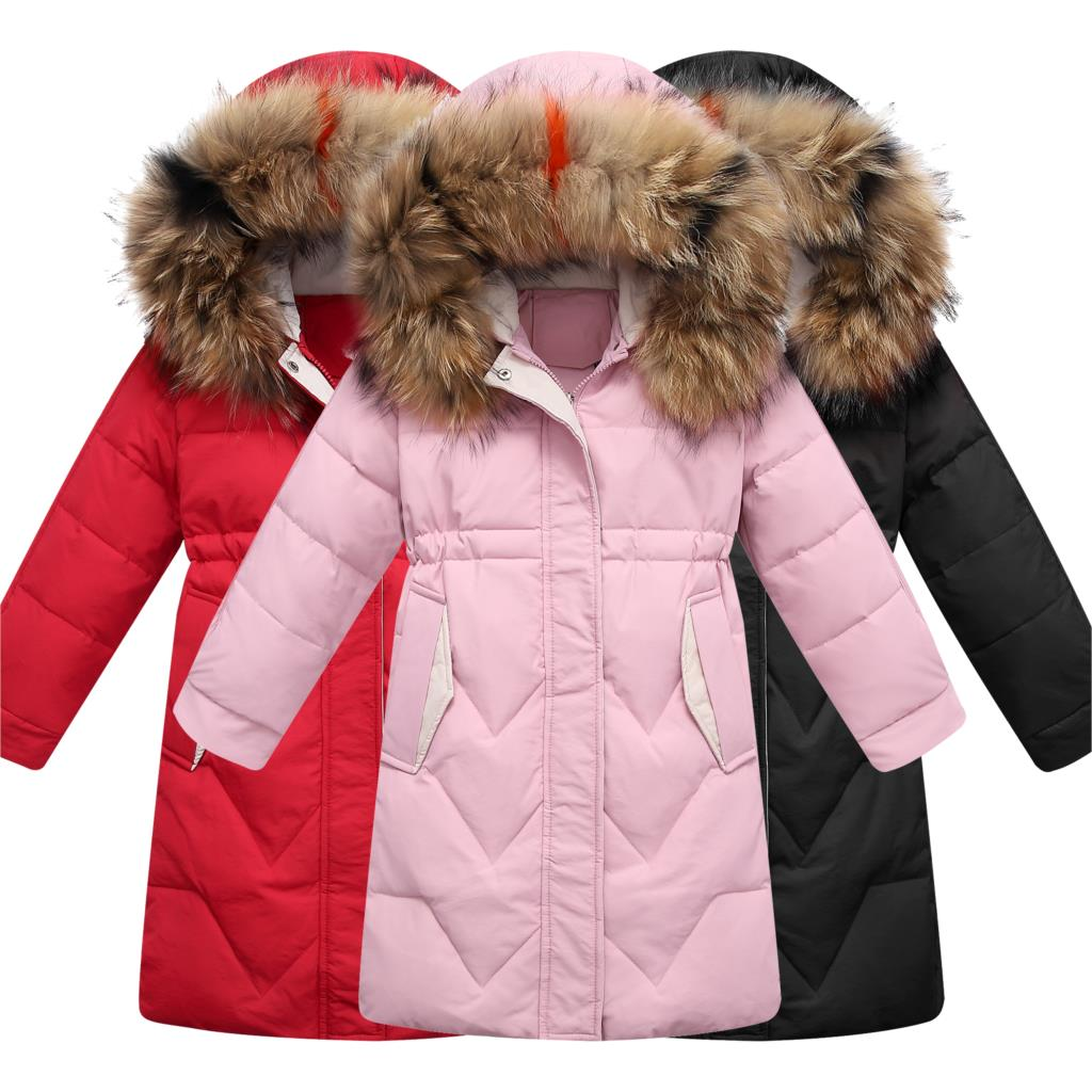 Olekid 30 градусов 2019 для девочек зимняя куртка теплый пуховик для девочек От 5 до 14 лет; Детские подростковые бюстгальтеры; куртка парка детская верхняя одежда