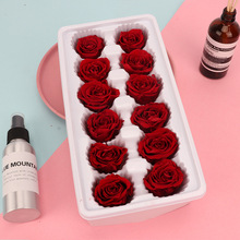 12pcs/box Artificial Flowers Rose  3-4CM Preserved Eternal Roses Box Newyear Valentines Gifts Forever Everlasting Level A