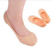 1 par de silicona herramienta de cuidado de pies agrietados hidratante Gel tacón calcetines roto Protector de cuidado de la piel de pedicura de salud masajeador