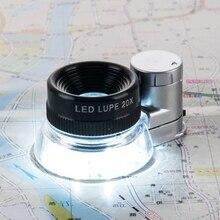 Magnifying Glass Printers Loupe Led-Light Illuminant Optical-Blue-Coating-Lens Identification