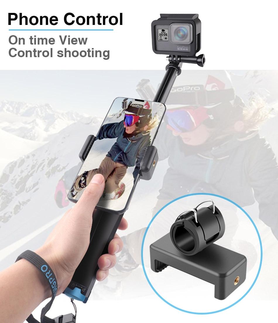 Handheld Monopé Para GoPro DJI 7 OSMO Ação câmera do Smartphone