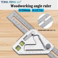 Triângulo régua multifuncional carpintaria triângulo régua ângulo ferramenta de medição para trabalhar madeira régua Transferidores Ferramenta -
