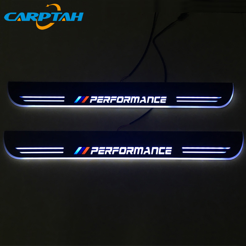 CARPTAH Trim Pedal Car Exterior Parts LED Door Sill Scuff Plate Pathway Dynamic Streamer light For BMW X6 E71 2010 - 2014 2015