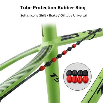 MTB rower górski zmiana biegów hamulec rura olejowa pierścień ochronny kable obudowa silikonowa linia ochronna osłona rury guma tanie i dobre opinie MEROCA