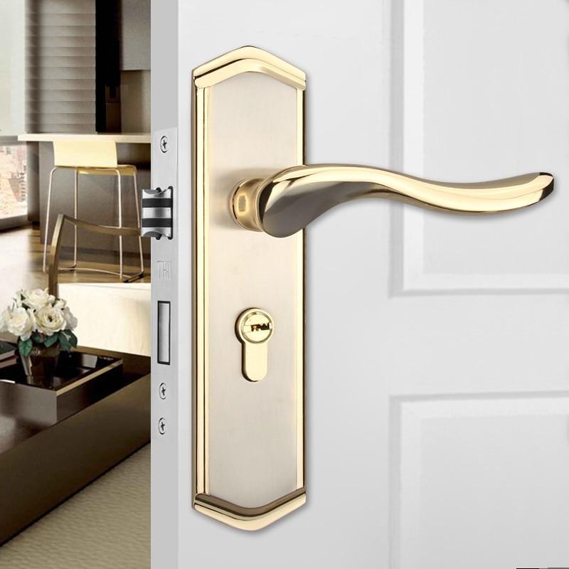 zinc alloy door handles for interior doors mortice lock door handles for interior doors Mute anti-theft lock door knob lock