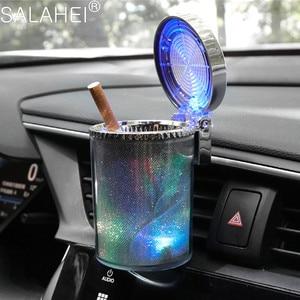 Image 2 - רכב מאפרה עם LED אור מאפרה עשן כוס מחזיק עבור פיג ו 107 108 206 207 208 308 307 408 407 508 3008 2008 אוטומטי סטיילינג