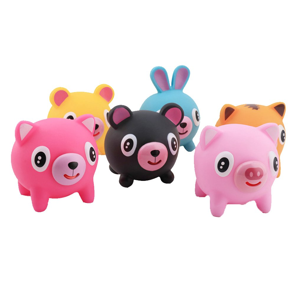 Children's Squeeze Heads Funny Pinch Tongue Hair Toys Novelty Decompression Venting Dolls