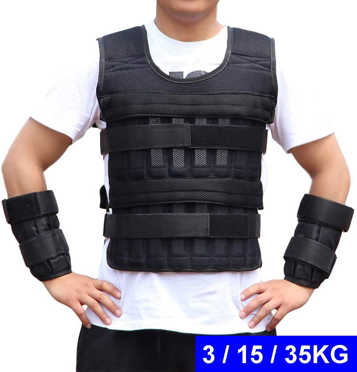 3/15/35 кг нагрузка вес ed жилет куртка нагрузка вес жилет упражнения для бокса обучение фитнес оборудование для бега|Аксессуары|   | АлиЭкспресс