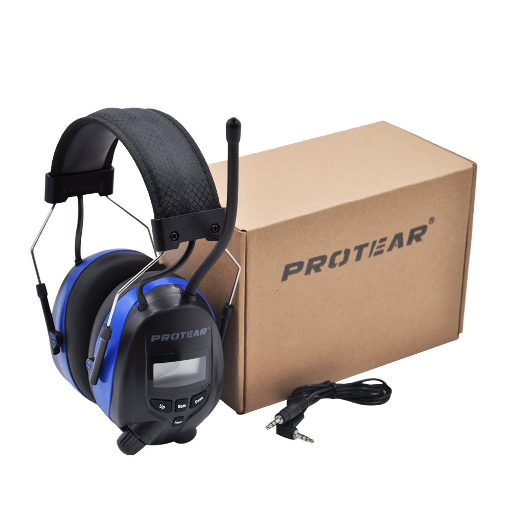 Image 5 - Protear NRR 25dB Hearing Protector Bluetooth AM/FM Radio Earmuffs Electronic Ear Protection Bluetooth Headphone Ear Defender-in Ear Protector from Security & Protection