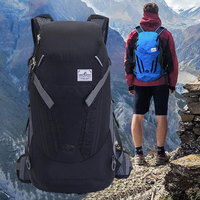 Folding Mountaineering Bag Waterproof Nylon Riding Backpack 35L Folding Storage Travel Camping Sports Outdoor Backpack Men Women
