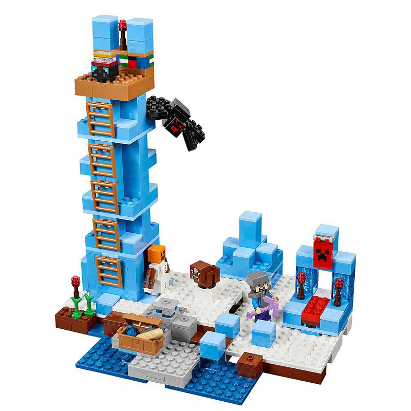 The Ice Spilkes Building Blocks With Steve Action Figures Compatible LegoINGlys MinecraftINGlys Sets Toys For Children 21131 4