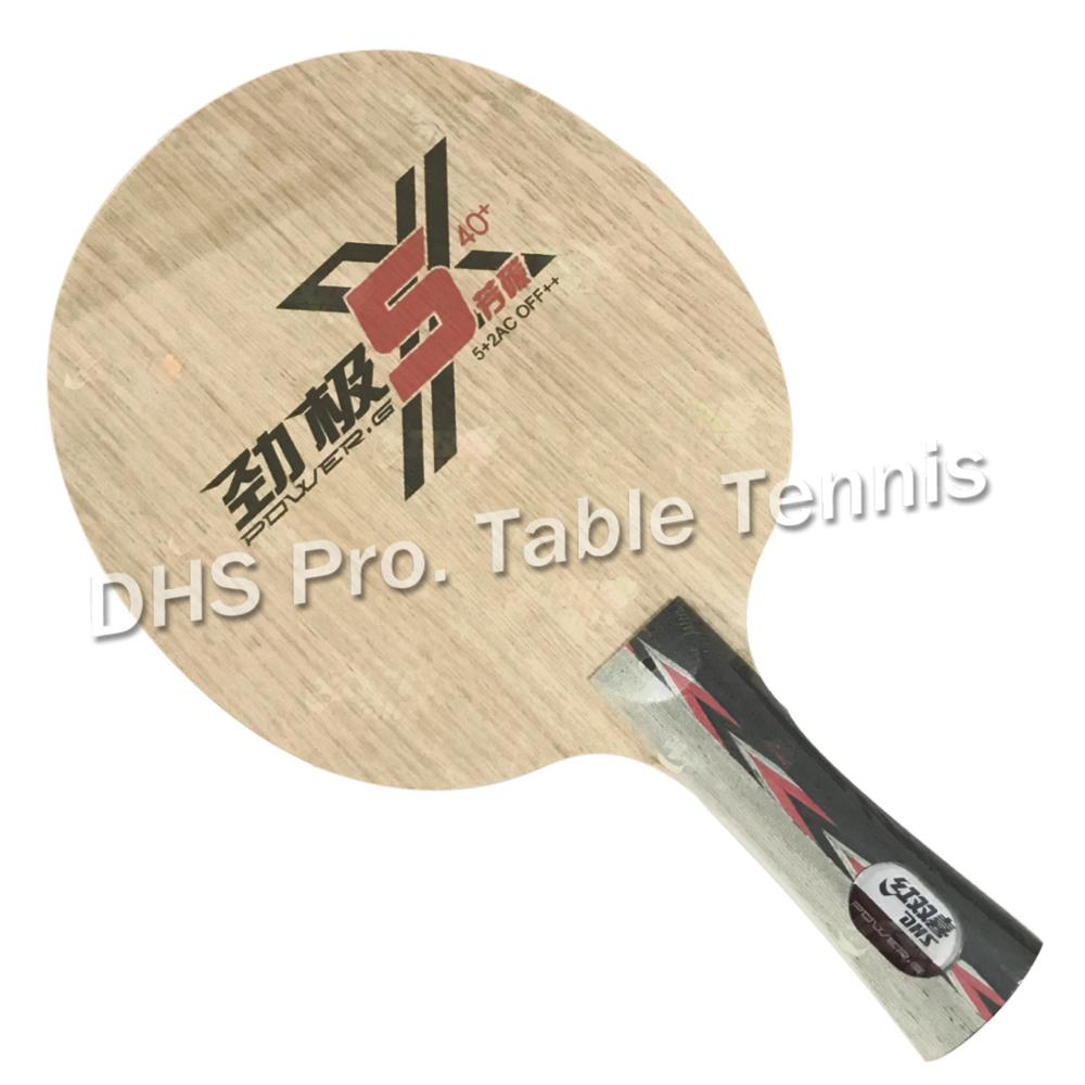DHS 2019 New POWER-G 5X PG5-X PG 5 X Table Tennis Blade Arylate Carbon ALC Racket Ping Pong Bat Paddle