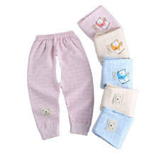 Newborn Baby Pants with Open Crotch Cotton Spring Autumn Trouser Boys Children Leggings Cute Girls Pajamas Toddler Clothes 0-24M