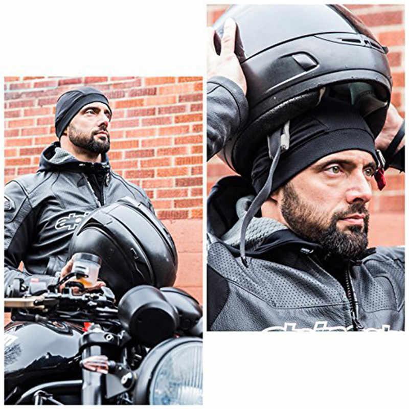 Kask motocyklowy wewnętrzna czapka kask motocyklowy Quick Dry oddychający kapelusz czapka z motywem wyścigów pod kask czapka na kask potu kapelusz