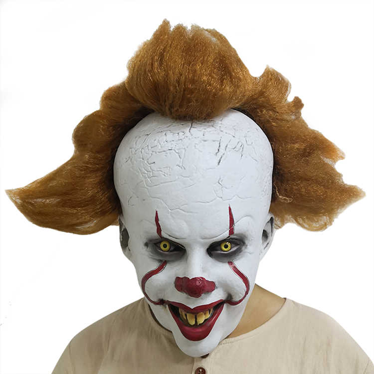 Halloween 2019 Joker Pennywise Maschera Stephen King Si Capitolo Due 2 Cosplay Lattice Prop Spaventoso Travestimento oggetti di scena