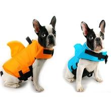 Спасательный жилет для собак, летний спасательный жилет для домашних животных с акулой, спасательный жилет для маленьких, средних и больших собак, одежда для безопасности, одежда для купания для собак, безопасный плавательный костюм для домашних животных