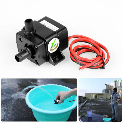 12V 240L/H Ultra Quiet Brushless Motor Submersible Pool Water Pump Solar RF/USB 30FM13