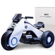 Детский Электрический мотоцикл двойной привод трицикл перезаряжаемая езда на игрушечном автомобиле motos electronas