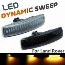 2 adet LED dönüş sinyali dinamik yan işaret lambası tekrarlayıcı gösterge ışığı Land Rover için Freeland 2 Discovery 3 4 rover Sport L320