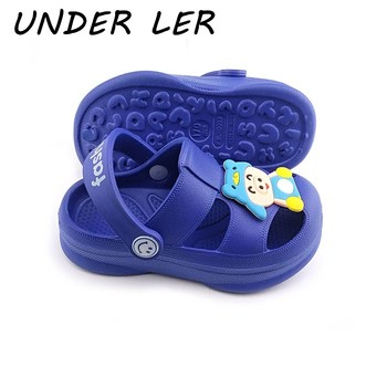 New Baby Beach Shoes Kids Girls Boys Slippers Cute Bear Children Sandals 2020 Summer Hole Slippers For Kids Croc Toddler Shoes 2019 hot baby shoes cute boys girls kids shoes children summer beach sandals kid newest pvc casual walking sports sandals shoes