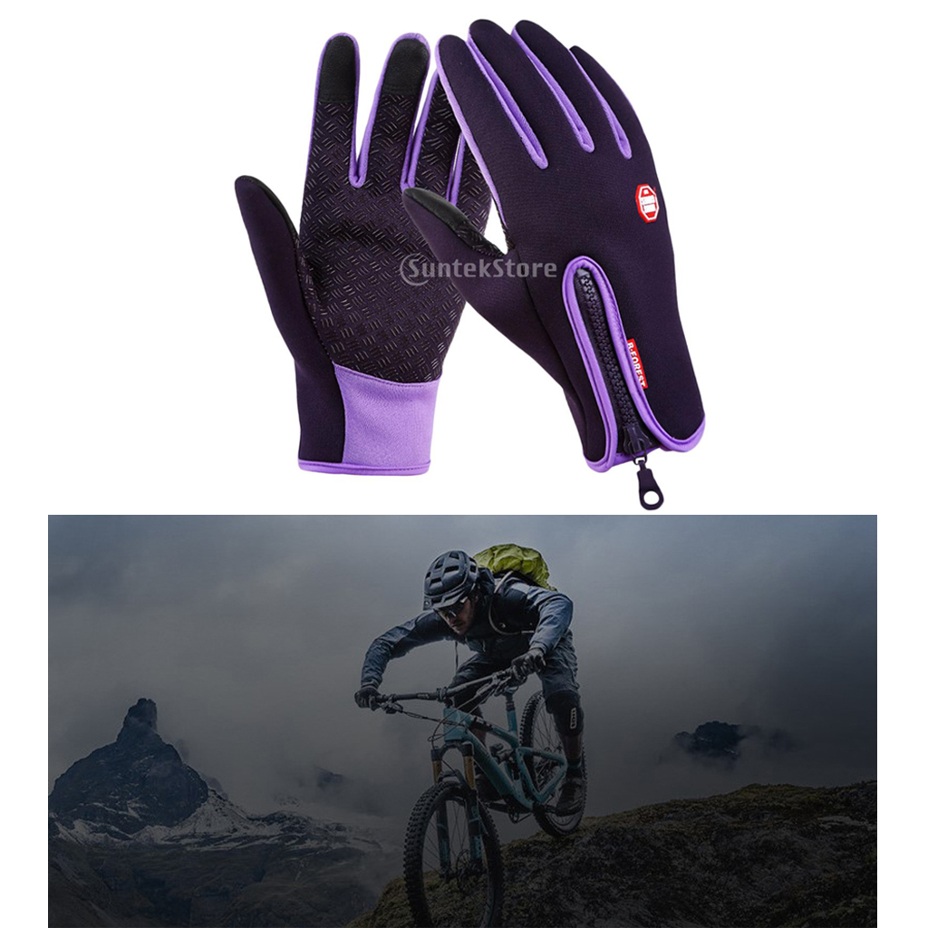 2020 Newest Nylon Windproof Fishing Hunting <font><b>Cycling</b></font> <font><b>Gloves</b></font> <font><b>Full</b></font> <font><b>Finger</b></font> <font><b>Gloves</b></font> <font><b>Winter</b></font> Warm <font><b>Gloves</b></font> w/ Zipper Warm Thick Breathable image