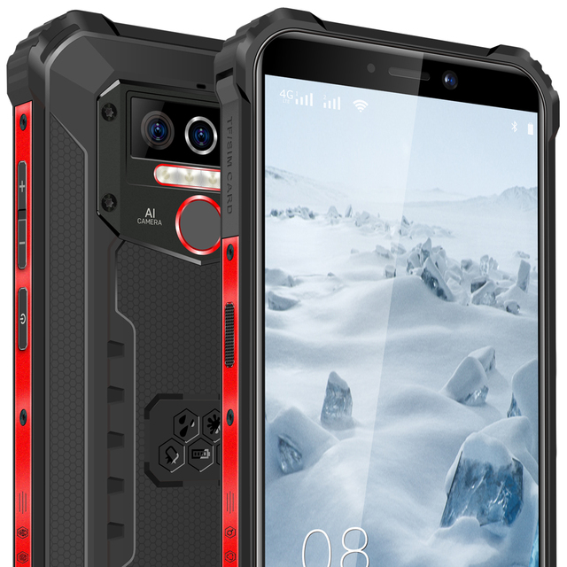 Oukitel wp5 pro ip68 à prova dip68 água smartphone 8000mah android 10 triplo rosto da câmera/impressão digital id 5.5 polegadas 4gb 64gb telefone móvel 6