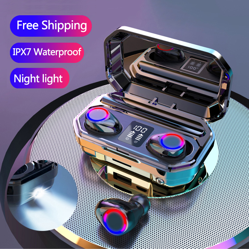 Écouteurs sans fil Bluetooth 5.0 TWS, oreillettes stéréo 9D, antibruit, basses, étanches IPX7, avec micro, livraison gratuite