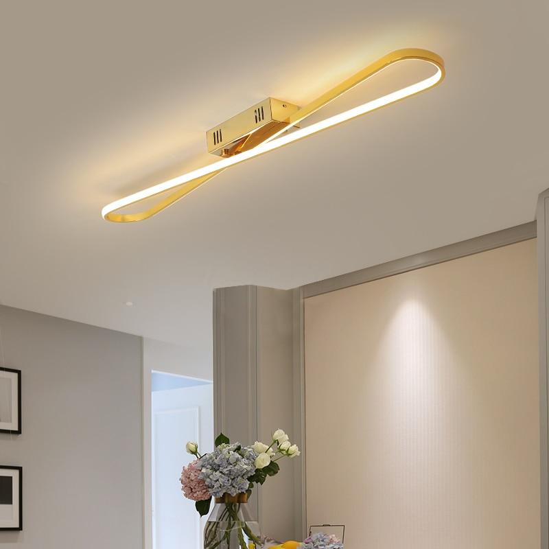 Modern LED Ceiling Lights For Living room Bedroom Kitchen Corridor Luminaries LED Ceiling lamp Lighting Chrome/Gold Finished
