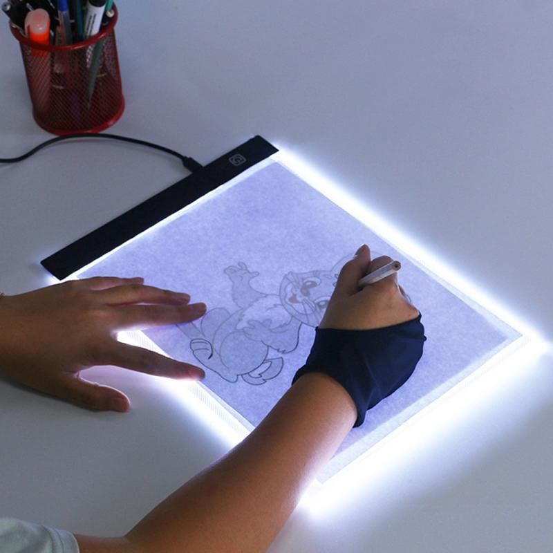 Graphics Tablet A4 LED Tracing Light Box Board Art Tattoo Drawing Pad Table Three-level Stencil Display 24*14.8cm