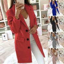 2020 Winter New Single button Slim Coat Women Faux Thick Jacket Fur Coats Loose Warm Length Overcoat Female Medium N1S3