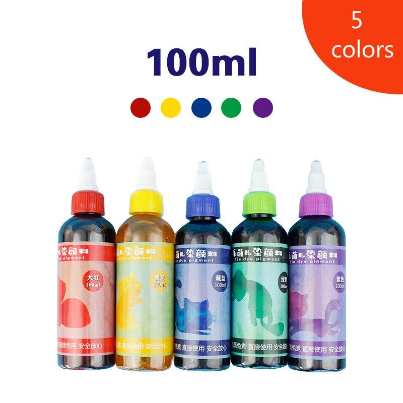 5/8colors 100ml tie dye Pigment Set/DIY Handmade Crafts for Art /Student  DIY/ art supplies for artist