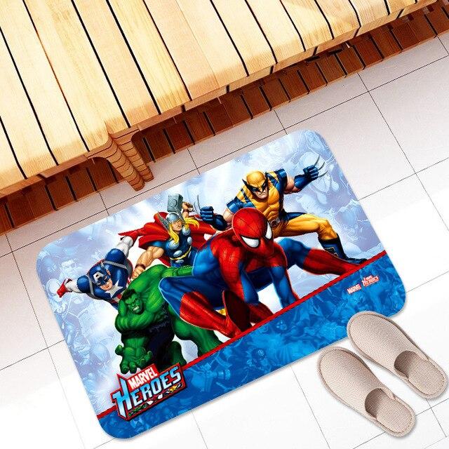 New Avengers Absorb Water Carpet Marvel Plush Toys Spiderman Iron Man Captain America
