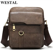 WESTAL shoulder bags for men leather bag male/men's
