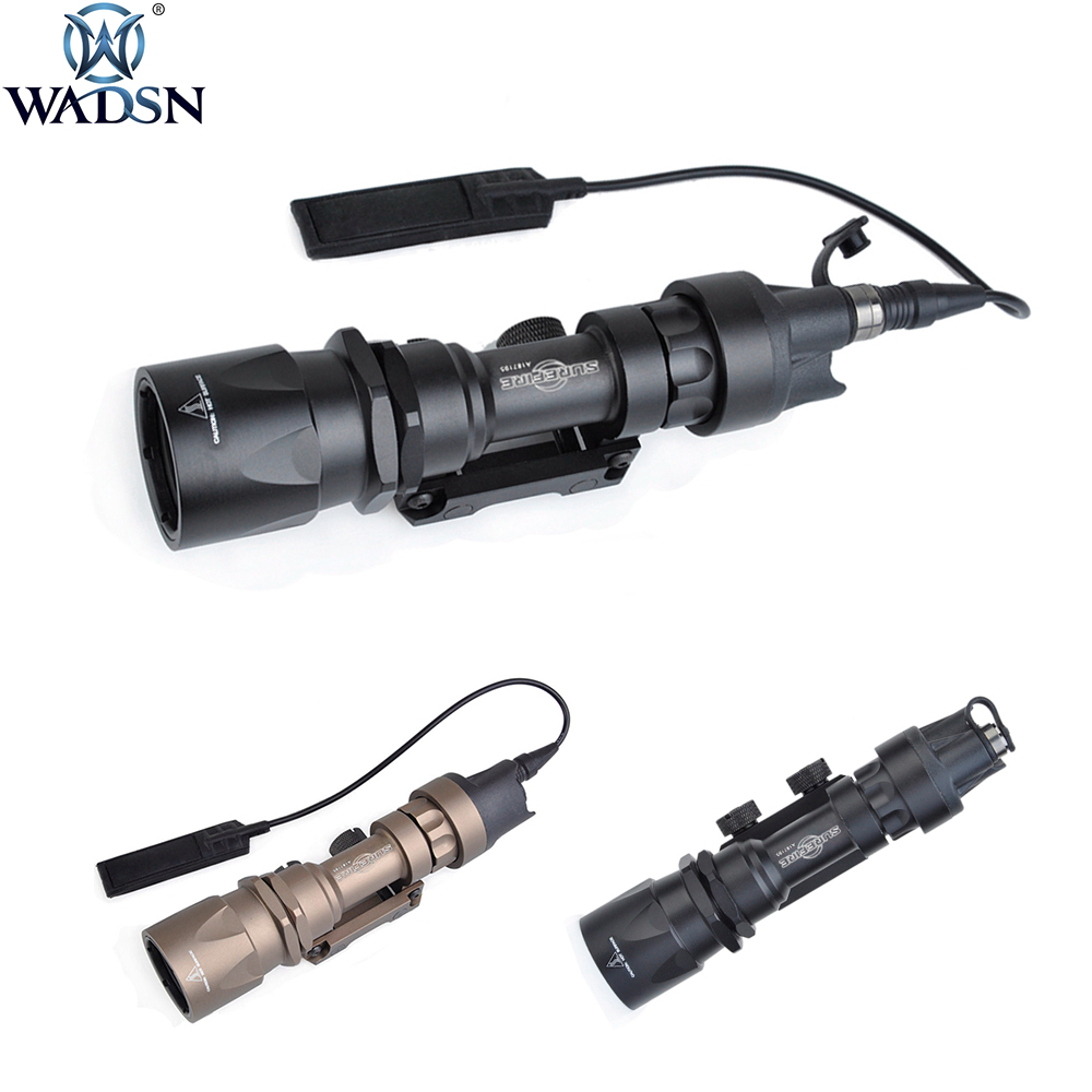 WADSN Tactical Surefir M951 LED Version Super Bright Flashlight Weapon Lights With Remote Pressure Switch 20mm Flashlight