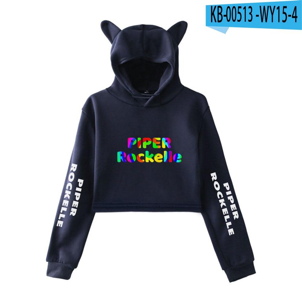 2020 Piper Rockelle Merch Women Cat Ear Sweatshirt Popular Casual Streetwear Harajuku Piper Rockelle Cool Print Hoodies 10