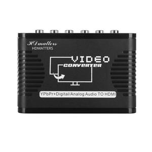 Image 4 - 5 RCA Ypbpr komponent na HDMI konwerter kabel komponent wideo na hdmi konwerter wideo audio adapter na ps2 wii i więcej