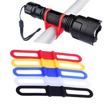 Bicicleta de silicone banda flash luz lanterna cinta do telefone gravata fita montagem titular ciclismo acessórios 1