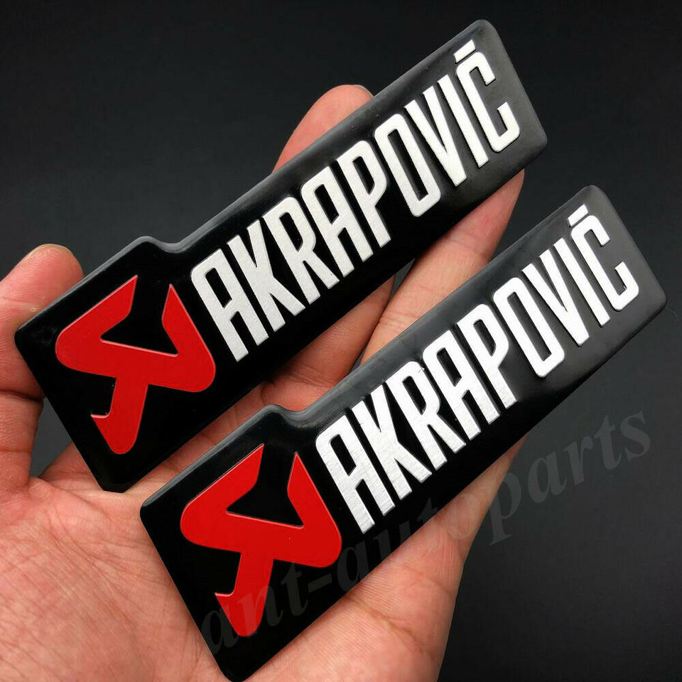 Metal AKRAPOVIC Exhaust Heat Resistant Foil Car Auto Emblem Badge Decal Sticker