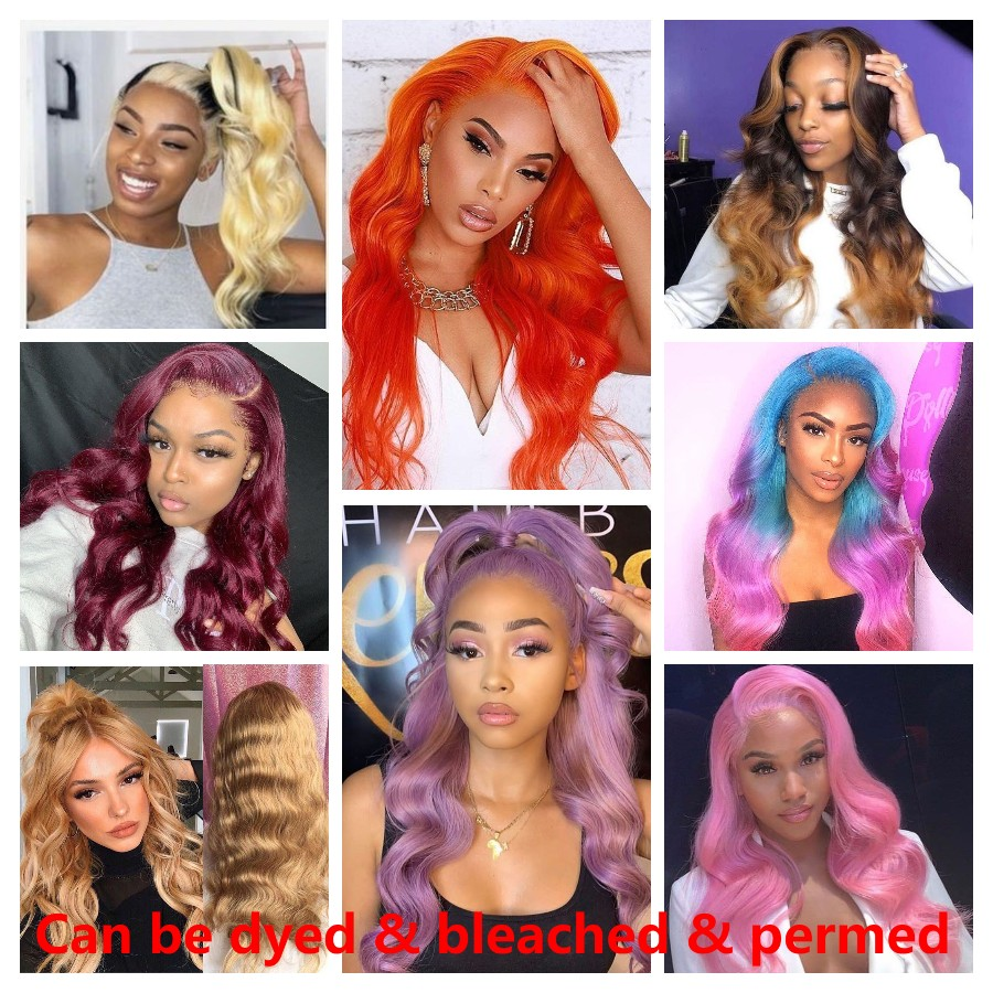 Brazilian Body Wave Lace Front Human Hair Wigs Remy Hair 613 Blonde Lace Front Wig Gossip 150% Lace Front Wig Per Plucked (5)