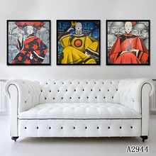 Canvas Art Picture Print Painting 3pieces/set Chinese Figure Oil on Wall Home Decor