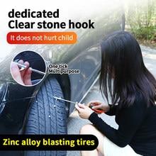 Herramientas de limpieza de neumáticos de coche, removedor de piedra rota, gancho de limpieza de neumáticos, herramienta de limpieza de neumáticos, estilismo de automóviles